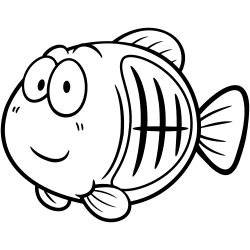 X-ray fish coloring page