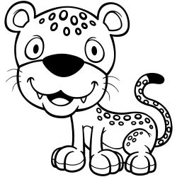 Jaguar coloring page
