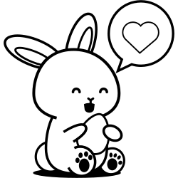Cute rabbit loves eggs