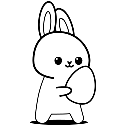Bunny carrying egg coloring page