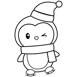 Penguin during winter