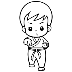 Karate coloring page