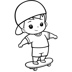 Cute kid skating