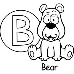Cute bear coloring page