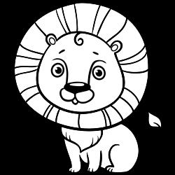 Lion coloring page