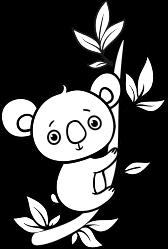 Little koala on a tree