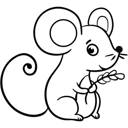 baby animal coloring page