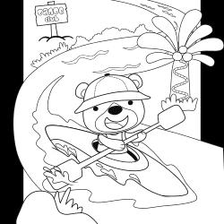 Canoeing bear