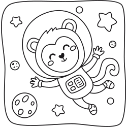 Bear in the space
