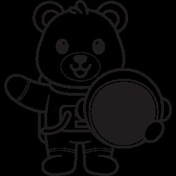 Astronaute bear coloring
