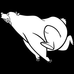 Running fat bear