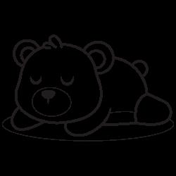 Sleeping cute bear