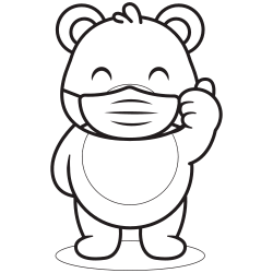 Bear with a mask