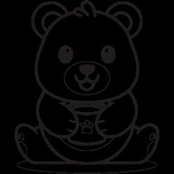 Bear holding a cup of tea