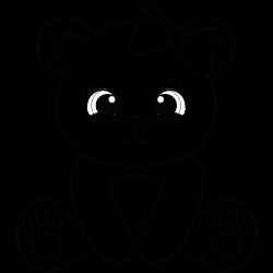 Cute baby bear sitting
