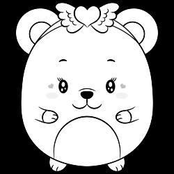 Cute little baby bear