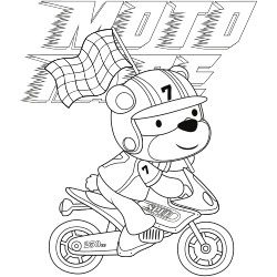 Motor rider bear