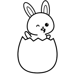 Bunny in the egg