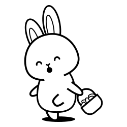 Little rabbit going to picnic