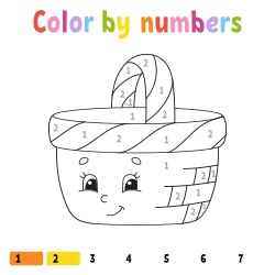 Cute basket coloring