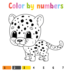 Little tiger coloring page