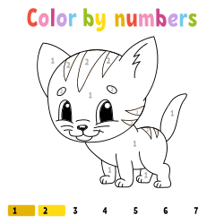 Coloring pages with number