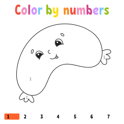 Sausage coloring page by number