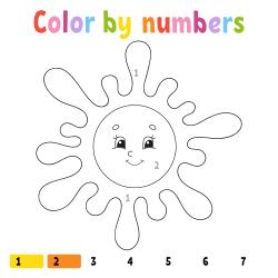 Cute sun coloring