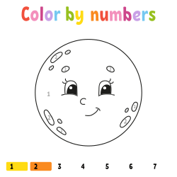 Earth coloring page by number