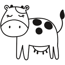 Calm looking cow