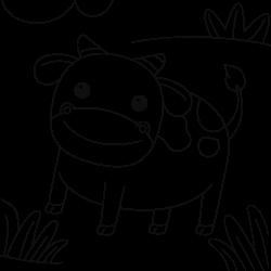 Happy looking cow