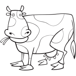 Cow coloring pages online