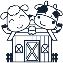 Sheep & cow