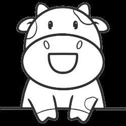 Student cow in school