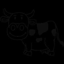 Happy smiling cow