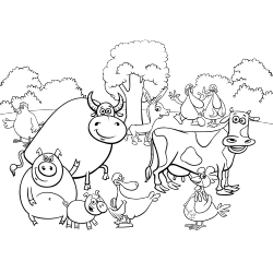 Cow and friends