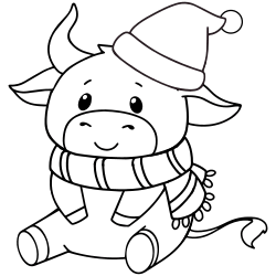 Cute cow during winter