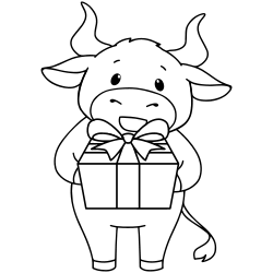 Printable cow coloring page