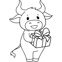 Cow receives a gift