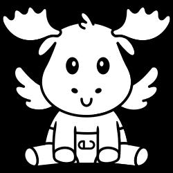 Little mouse wearing deer costume