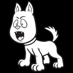 Cute dog barking
