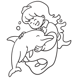 Princess with dolphin