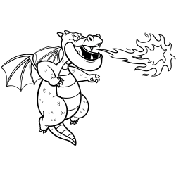 Dragon throwing flame