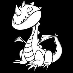 Weird looking dragon