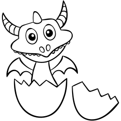 Baby dragon with horns