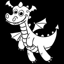 Cute looking dragon