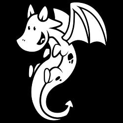 Happy dragon coloring