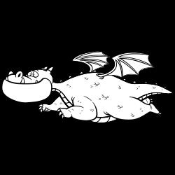 Flying dragon coloring