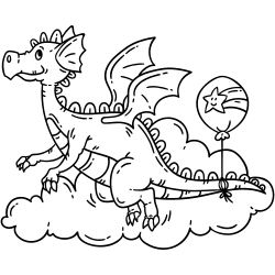 Dragon over clouds