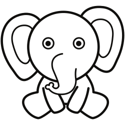 Funny looking elephant
